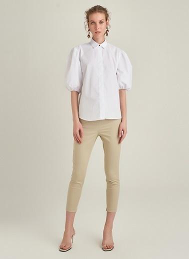 Ng Style Balon Kol Gömlek Beyaz